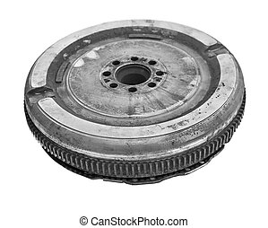 gearbox - used car clutch isolated on white background