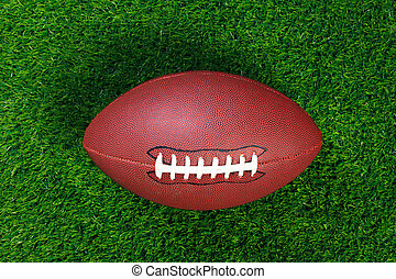 American football on grass