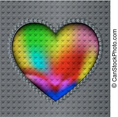 image of colored heart