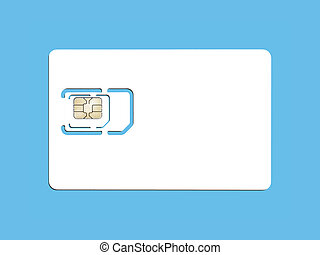 smart card - An image of a smart card for cell phones