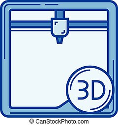 Additing manufacturing line icon. - Additing manufacturing...