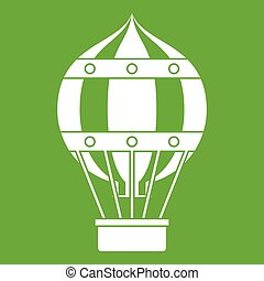 Old fashioned helium balloon icon green - Old fashioned...