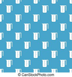 Measuring cup pattern seamless blue