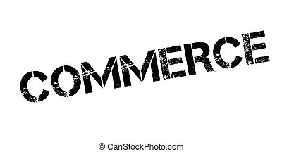 Commerce rubber stamp. Grunge design with dust scratches....