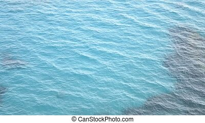 Beautiful blue water surface - Beautiful tropical blue water...