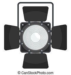 stage spotlight icons - Spotlight for film, photo and video...