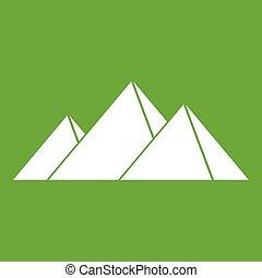 Pyramids in Giza icon green
