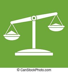 Retro scales icon green