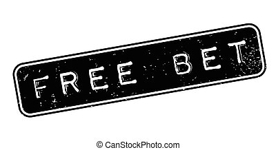 Free Bet rubber stamp. Grunge design with dust scratches....