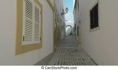 Ascent through the streets of Albufeira. Portugal