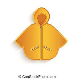 vector cartoon yellow raincoat isolated - vector cartoon...