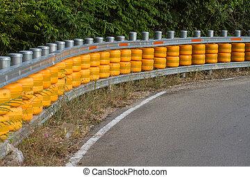 Curve road guardrail pole - guardrail, is a system designed...