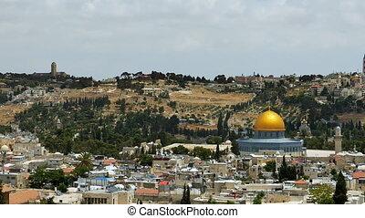 Jerusalem panoramic aerial view. Jerusalem is most sacred...