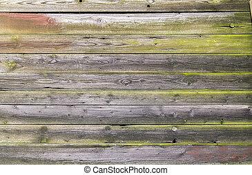 rundown wooden planks - full frame background showing...