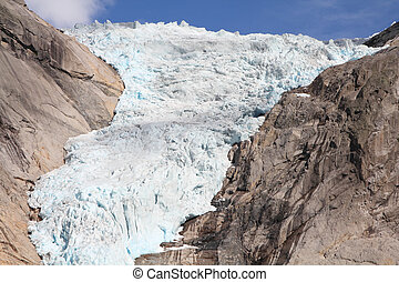 Glacier in Norway - Norway, Jostedalsbreen National Park...
