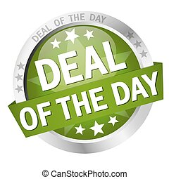 button with text Deal of the day - colored button with...
