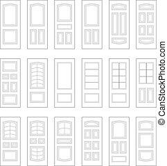Big set of door ideas. Big set combination. - Big set of...