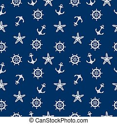 Blue Marine Pattern