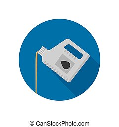 Oil change icon - Oil change flat icon. Maintenance...