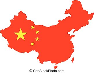 Public republic of China map vector illustration