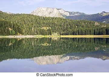 Black Lake on Durmitor Mountain in Montenegro - View at...