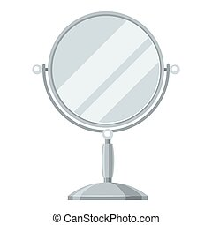 Mirror for make up. Illustration of object on white...