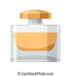 Perfume bottle. Illustration of object on white background...