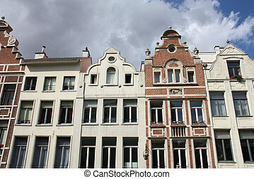 Brussels - Street view in the Belgian capital city -...