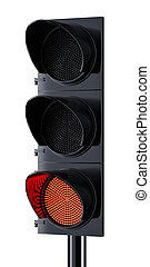 Traffic light with red signal lighting