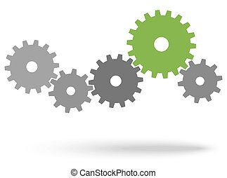 gears for cooperation symbolism - gray gears for cooperation...