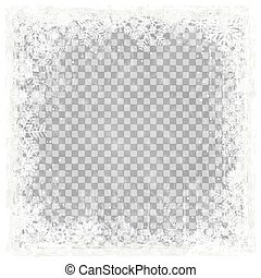 grunge christmas background with vector transparency -...