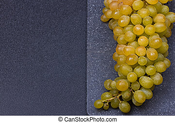fresh delicious and healthy organic concord grapes on...