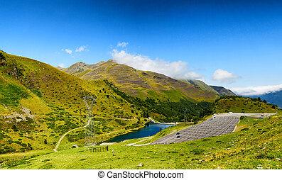 Col du Tourmalet (Hautes Pyrenees, France) - view of Col du...