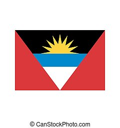 Antigua and Barbuda flag on the white background. Vector...