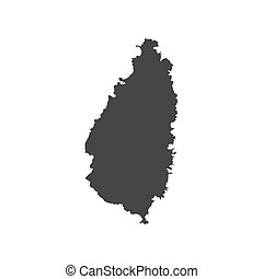 Saint Lucia map on the white background. Vector illustration