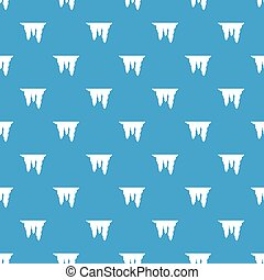 Icicles pattern seamless blue