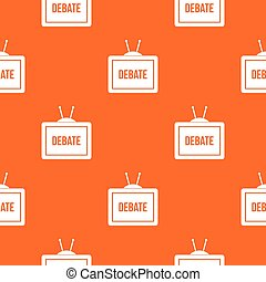 TV with the Debate inscription pattern seamless