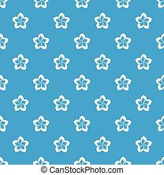 Frangipani flower pattern seamless blue