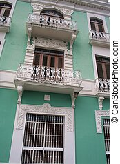 Typical Old San Juan Home - Exterior of building in Old San...