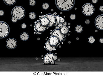 Question Time Concept - Time questions concept as a group of...
