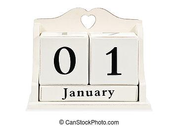 On the calendar January 1