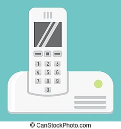 Wireless telephone flat icon, household appliance - Wireless...