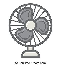 Table Fan colorful line icon, household appliance