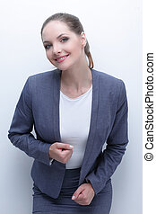 closeup face of a successful woman Manager - face of a...