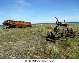 Deserted all-terrain vehicle - all-terrain vehicle, car,...