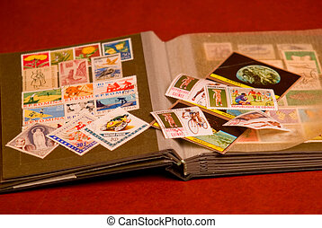 philately 5 - Albums for the collection of old postal stamps