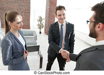 business of the meeting. handshake business partners