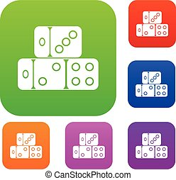 Three dice cubes set collection - Three dice cubes set icon...