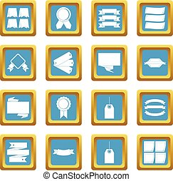 Different colorful labels icons azure
