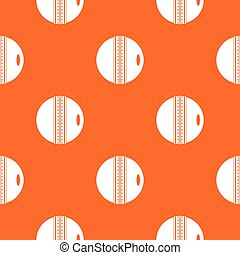 Black and white cricket ball pattern seamless - Black and...